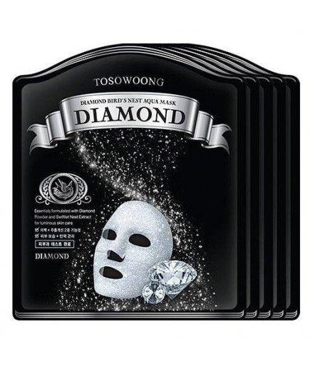 Masque Hydrogel Diamant et Nid d'Hirondelle - Hydratation, Éclat et Élasticité - TOSOWOONG