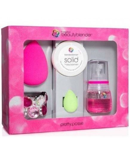 Kit Pretty Clean 2 Éponges Maquillage Teint Original + Nettoyant Blender Cleanser Liquide - Beauty Blender