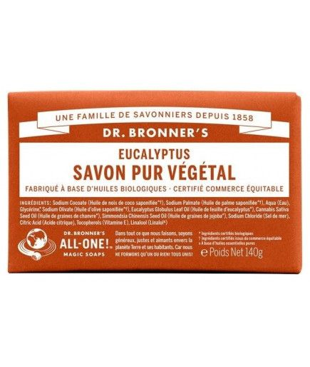 Barra de jabón - tea tree - Dr. Bronner