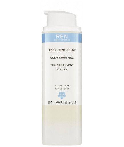 Lavarse la cara con Gel de Rosa Centifolia™ - REN de Cuidado de la piel