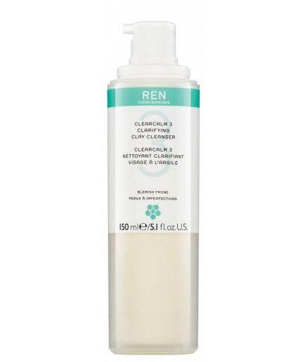 Reiniger zur Klärung Gesicht, mit Ton - Clear Calm 3 - REN Skincare