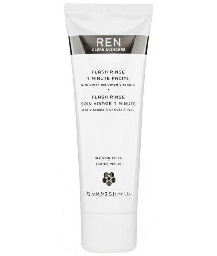 Flash Enjuague Soin Visage 1 Minuto - la Belleza de Refuerzo - REN de Cuidado de la piel