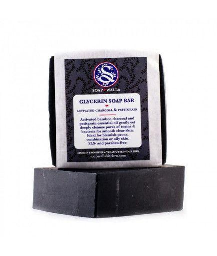 Jabón de glicerina Jabón en Barra con carbón de leña y Petitgrain - SoapWalla Cocina