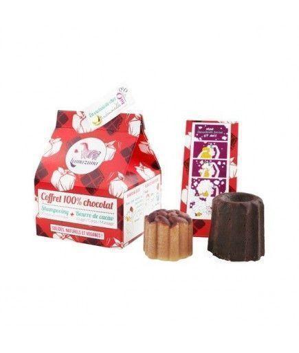 Caja de 100% de chocolate - Champú + Manteca de Cacao - Lamazuna