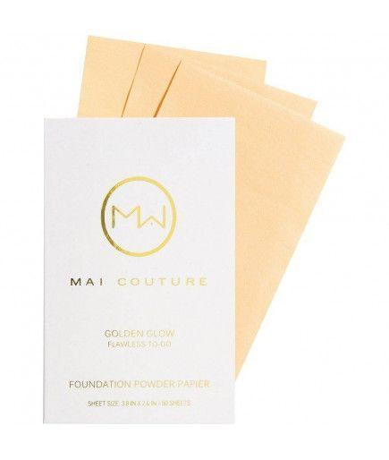 Fundación de polvo de papel Dorado Resplandor de Mayo de alta Costura