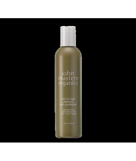 Shampoo 2 en 1 - Zinc y Salvia - John Masters Organics