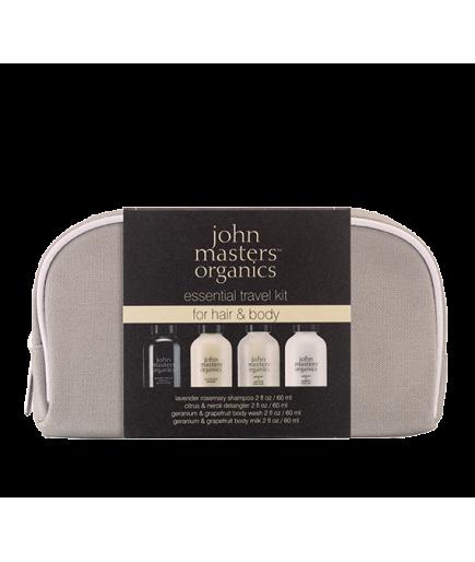 Pack de viaje - el Cuerpo y el Cabello - John Masters Organics