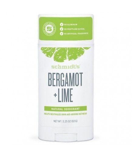 Desodorante natural pote - bergamota y Citron Vert - Schmidt