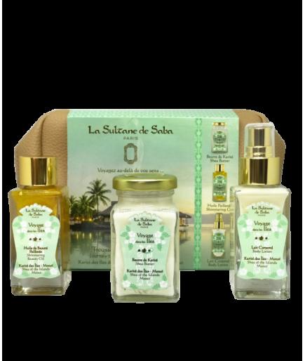 Trousse de voyage Balinais - Lotus et Fleur de Frangipanier - La Sultane de Saba